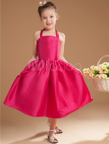 hot pink flower girl dress № 139455