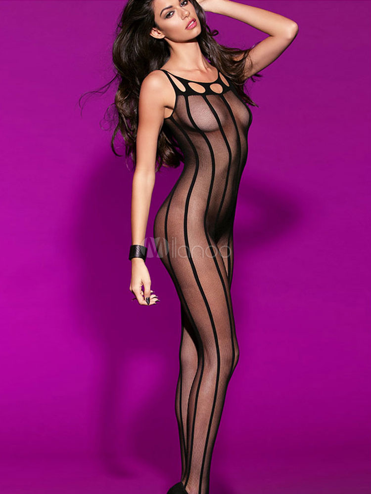 Sultry brunette model Roxy Raye posing in mesh bodystocking and glasses  267881