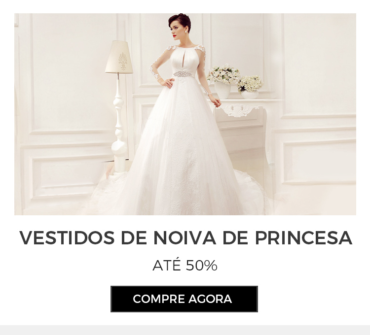 Vestido de noiva estilo de Baile e Princesa