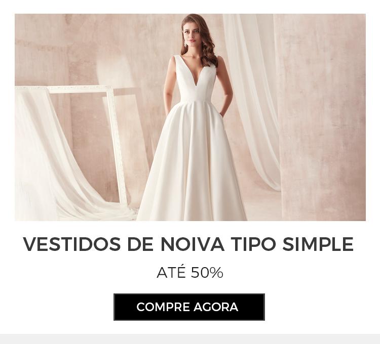 Vestido de Noiva Tipo Simple