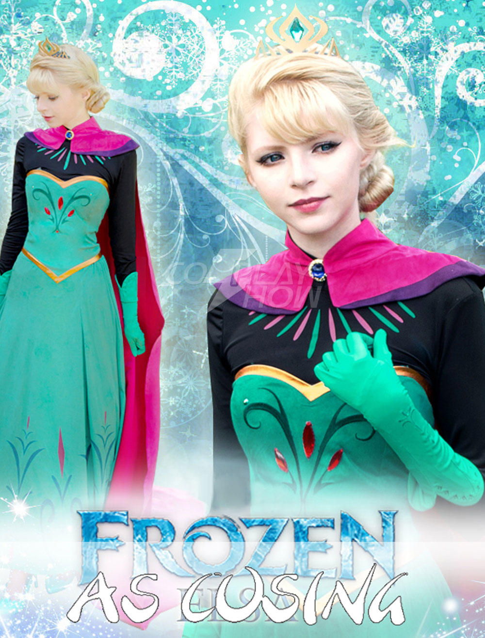 Frozen Elsa Halloween Cosplay Costume For Adults Cosplayshowcom