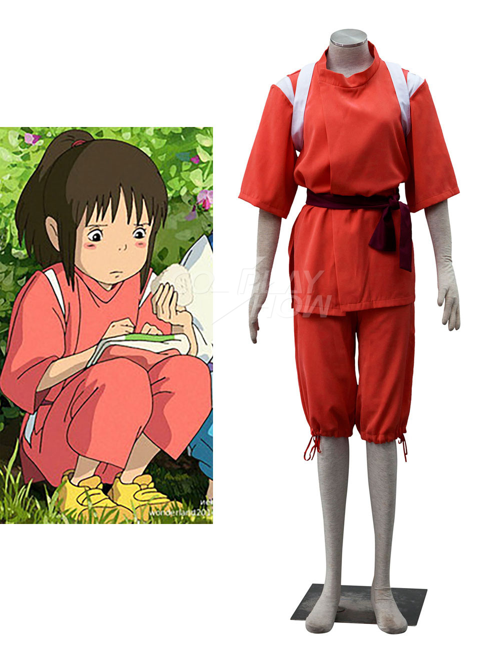 Animation Art Characters Halloween Spirited Away Ogino Chihiro Cosplay Costume Clothes Any Size Japanese Anime Collectibles