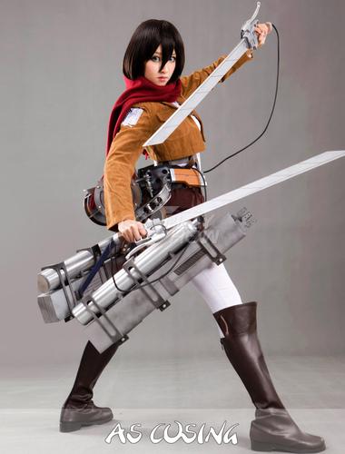 Attack On Titan Mikasa Ackerman Cosplay Costume