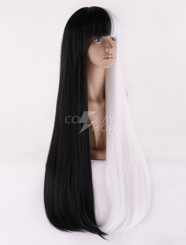 ... Sia Kate Isobelle Furler Cosplay Wig Long Black White Wig ... 494f485cce0b