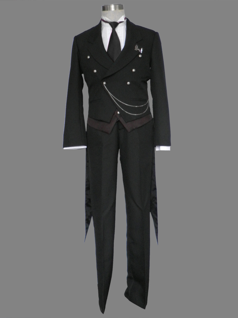 black butler kuroshitsuji sebastian halloween cosplay costume