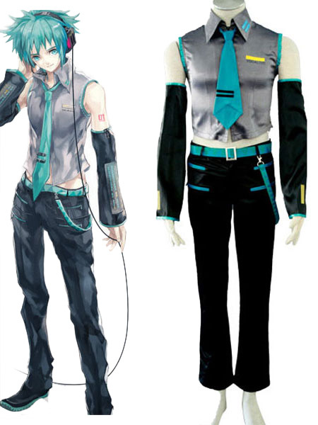 vocaloid hatsune miku halloween cosplay costume boy version