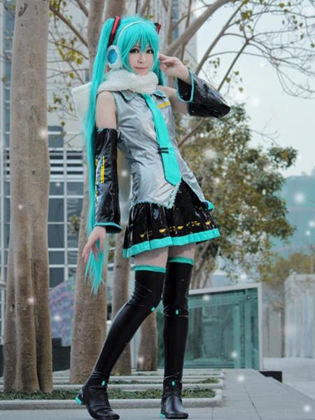 & Vocaloid Hatsune Miku Anime Halloween Cosplay Costume Halloween ...