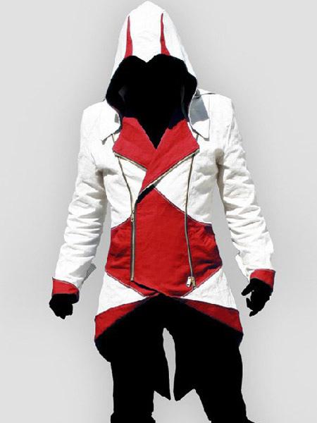 dernière sélection mode de luxe vente en ligne Inspiré par Assassins Creed Sweat-shirt slim blanc bicolore