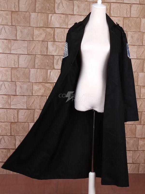aeb60ca8282c Attack On Titan Shingeki No Kyojin Levi Black Cloak Cosplay Costume Survey  Corps Scout Regiment Cloak - cosplayshow.com