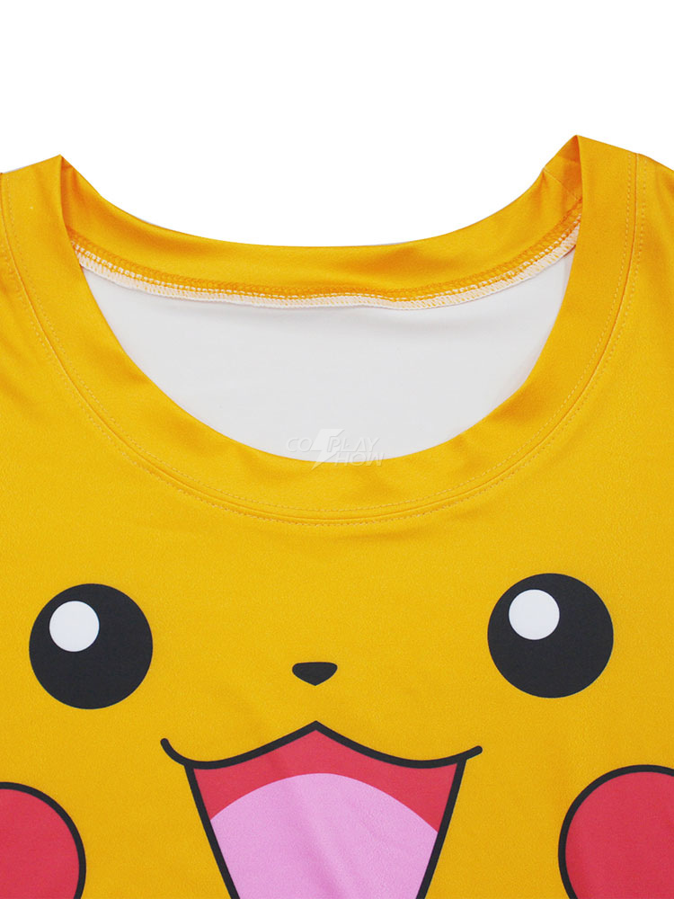 540a9979 ... Pokemon Pikachu Print Costume Women's Short Sleeve Yellow T Shirt