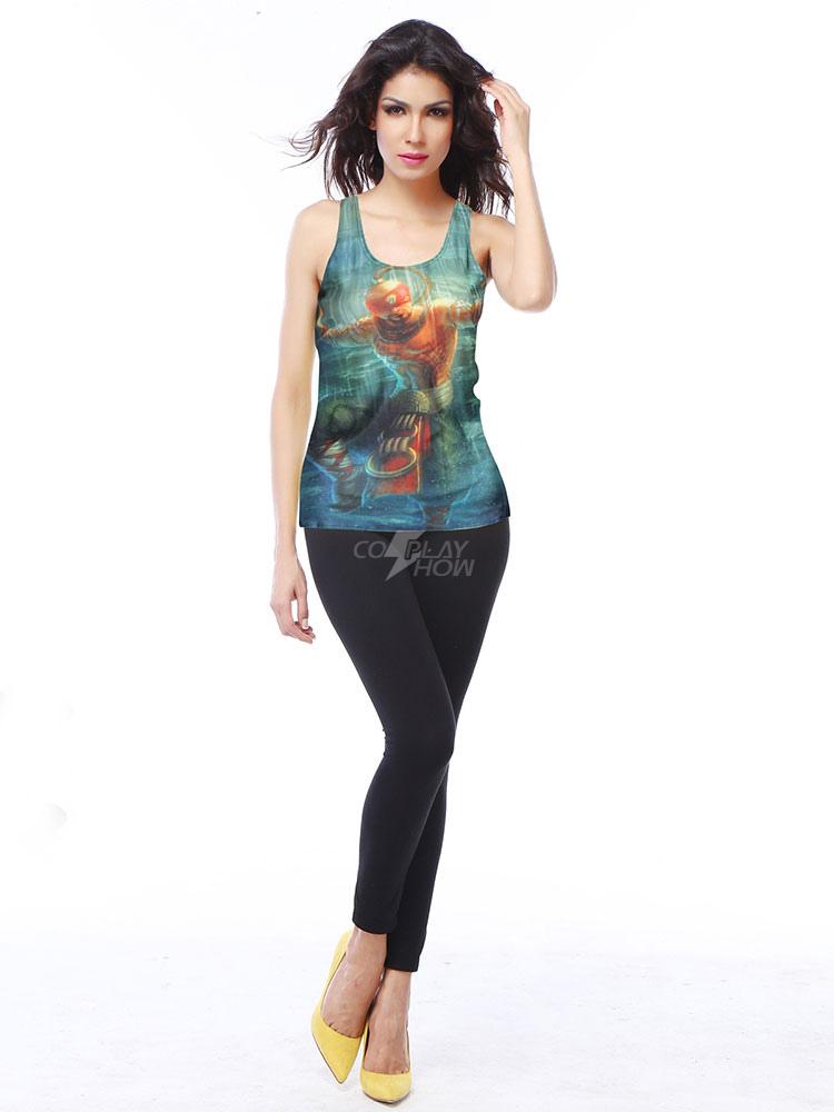 Camiseta de poliéster Color celeste para chicas - cosplayshow.com