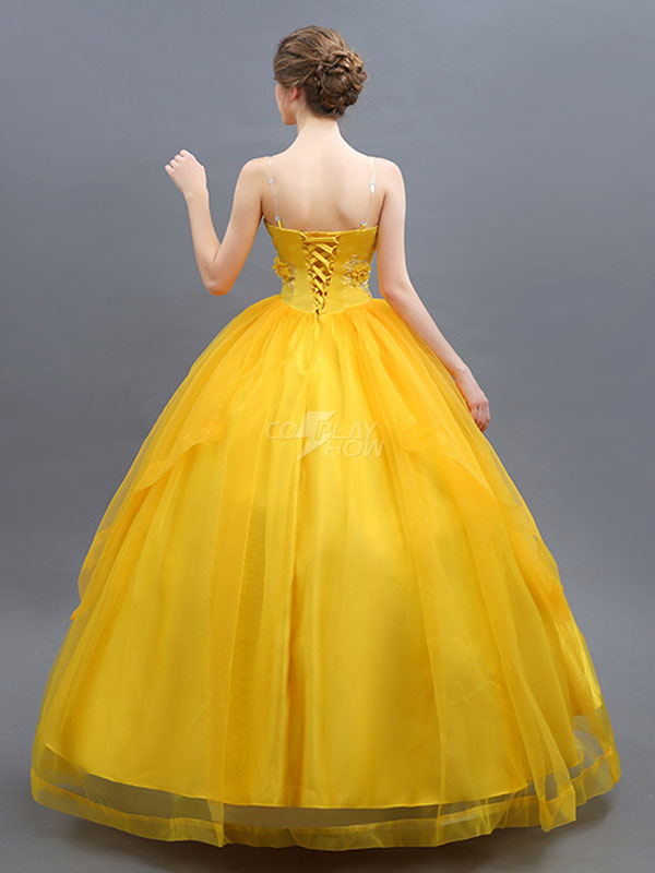 Beauty And The Beast Costume 2019 Belle Cosplay Yellow Dress