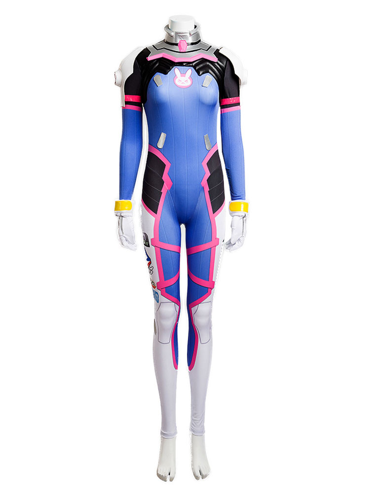 Details about  /Overwatch OW Cosplay DVA Hana Song Women Jumpsuit Battle Suit Halloween Costume