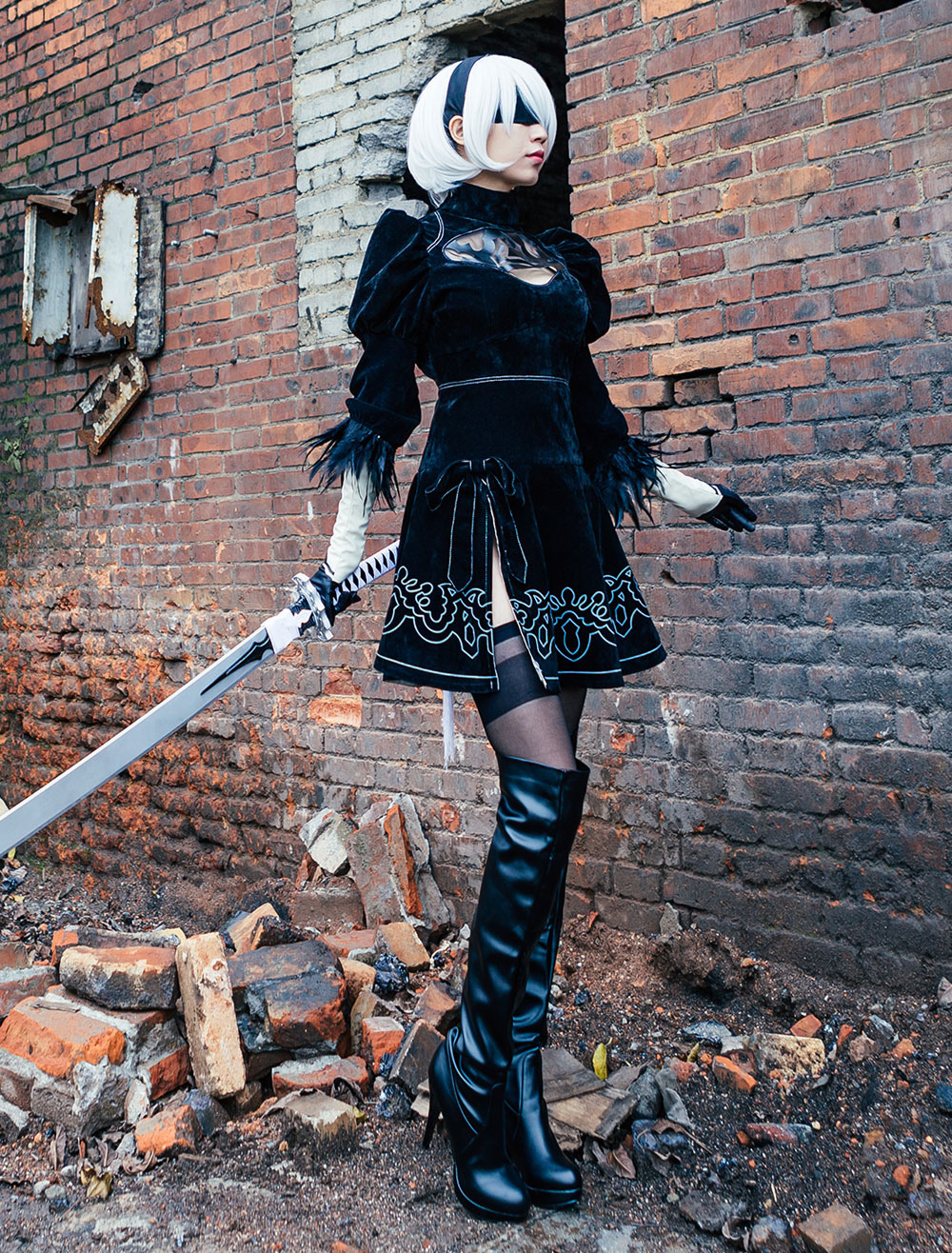 Unisex Clothing Shoes Accessories Nier Automata 2b Yorha No 2 Type B Black Yorha Cosplay Costume Halloween Set Myself Co Ls