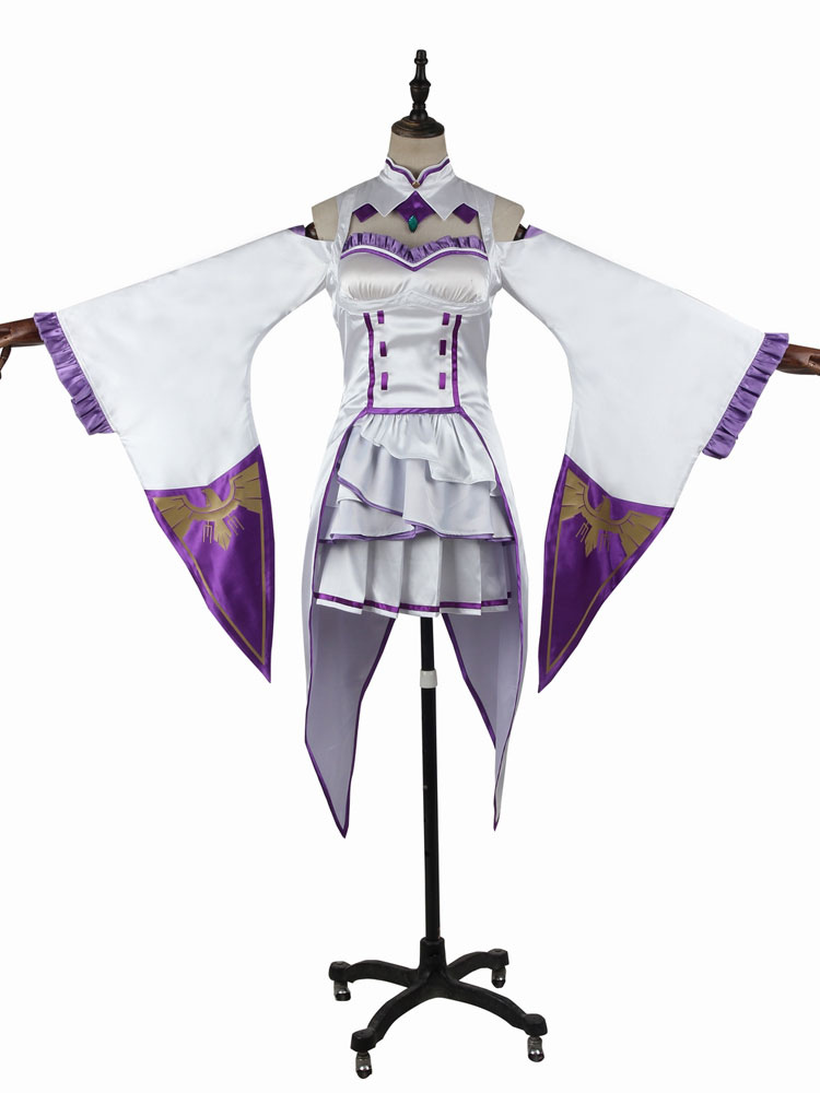 Re:zero Starting Life In Another World Emilia Cosplay Clothes Full Set Costume Home