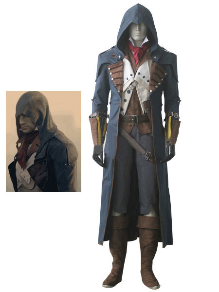 Inspired By Assassin S Creed Unity Arno Victor Dorian Halloween Cosplay Costume Dark Navy Suit Cosplayshow Com