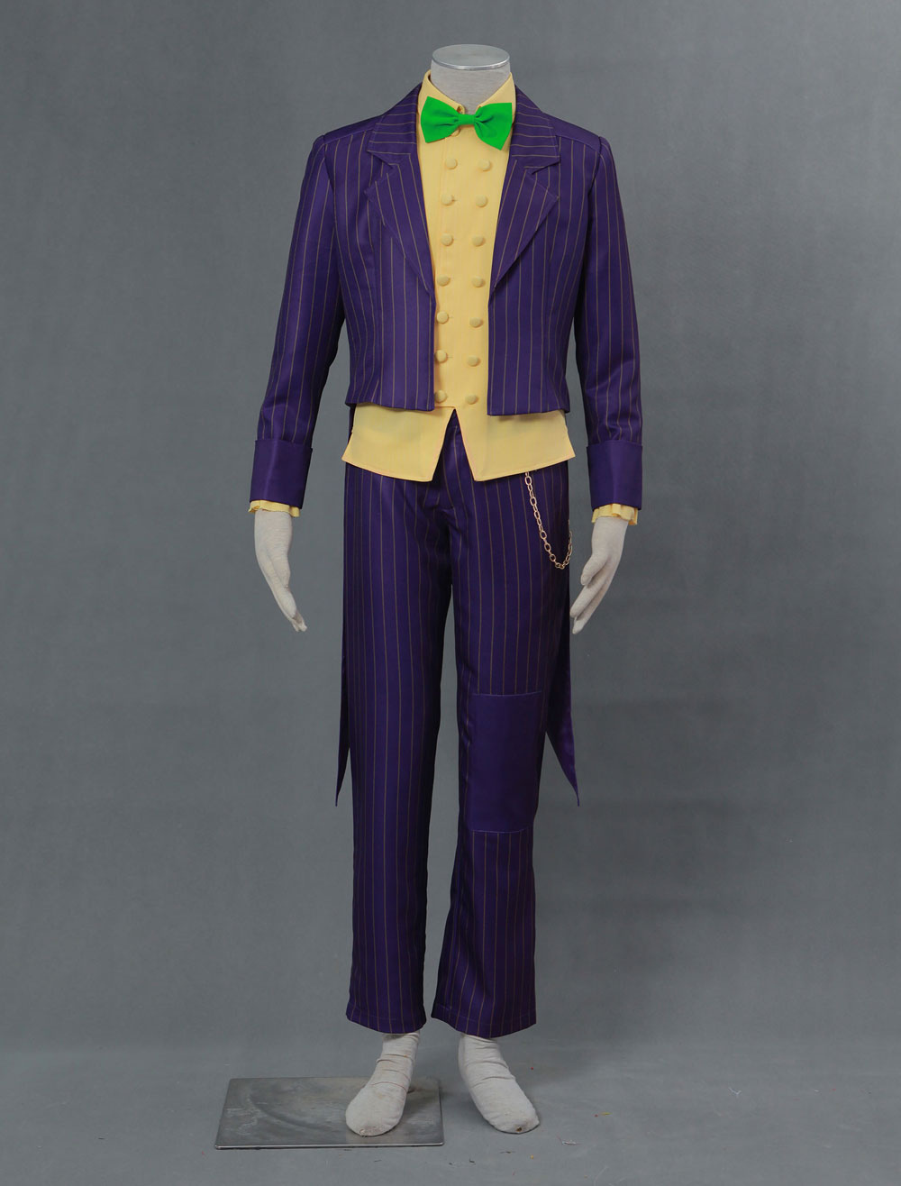 The Joker Arkham Asylum Costume Batman Arkham Halloween Fancy Dress