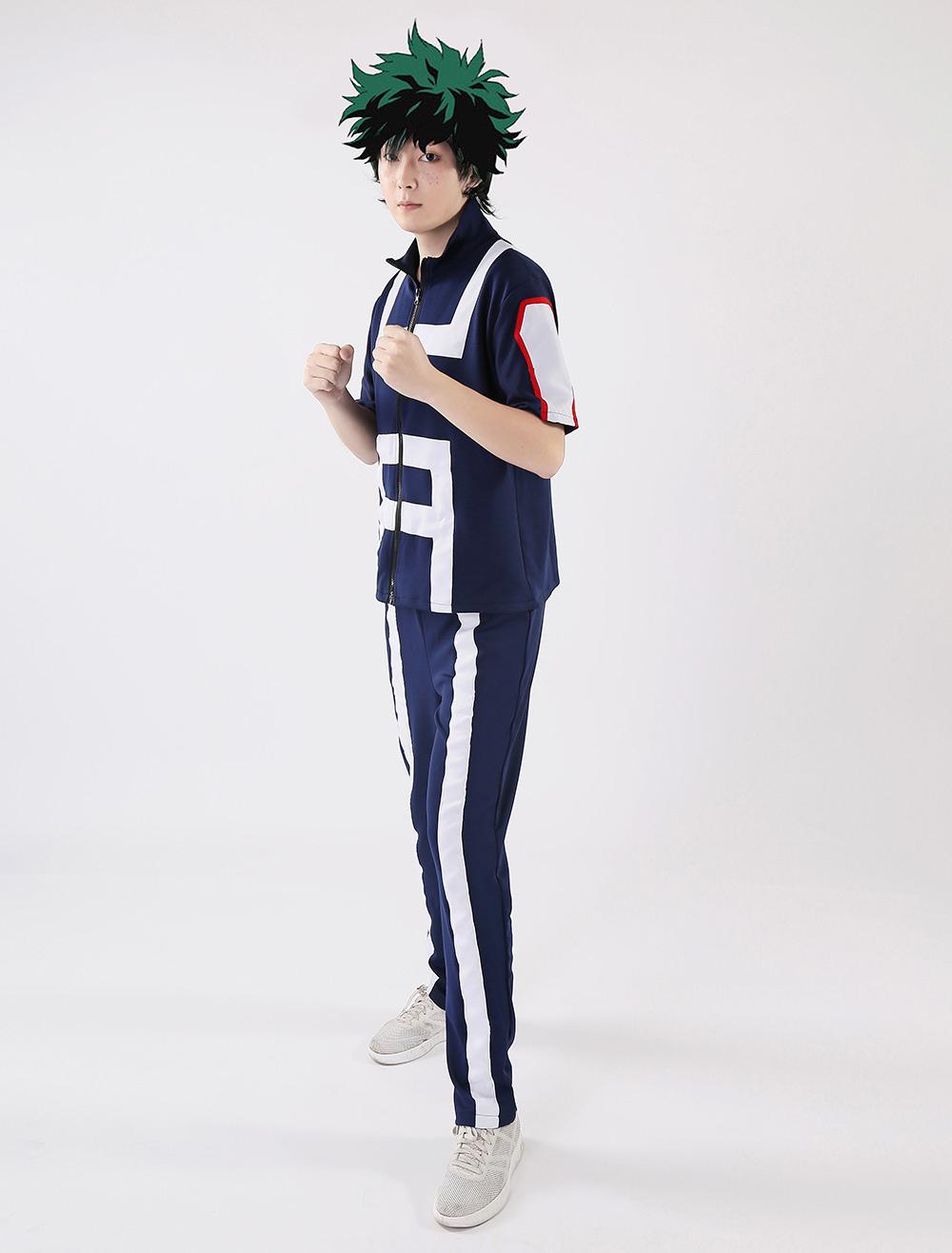 My Hero Academia Deku Cosplay Bnha Midoriya Izuku Cosplay Costume Gym Suit Halloween