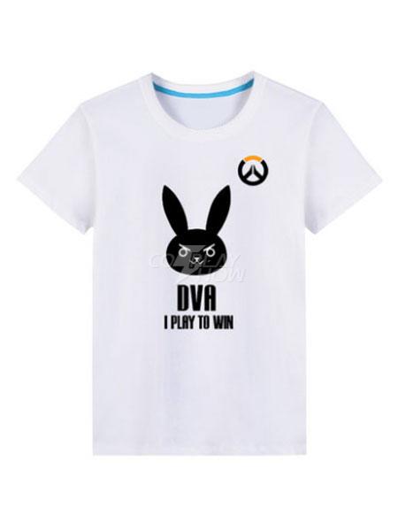 d944035f276 Overwatch OW D.va Black Cosplay T Shirt - cosplayshow.com