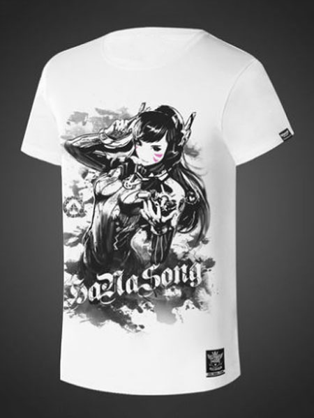 e9f7c72451d Overwatch OW D.va Ink And Wash Painting Style Cosplay T Shirt -  cosplayshow.com