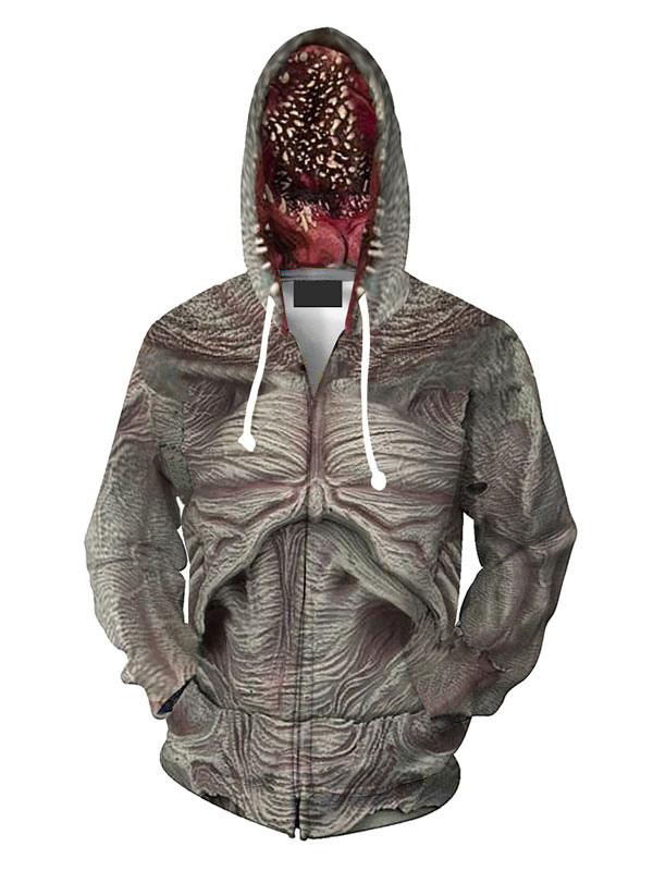 Halloween Stranger Things demogorgon play costume 3D print onepiece 10-12 12-14Y