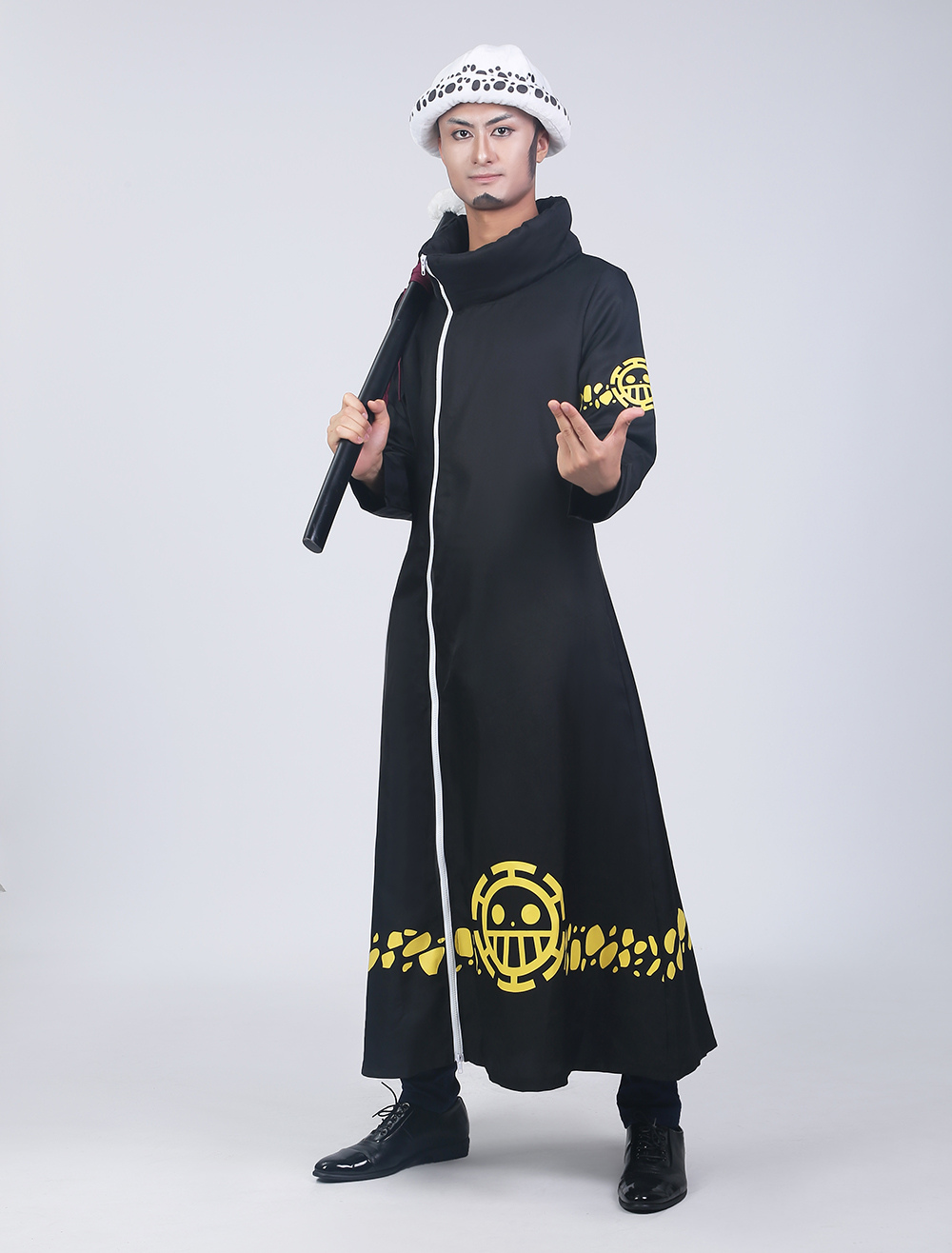 Size L One Piece Trafalgar Law Cosplay Costume and Hat