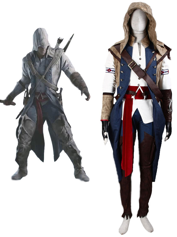 Inspired By Assassin S Creed Iii Connor Halloween Cosplay Costume
