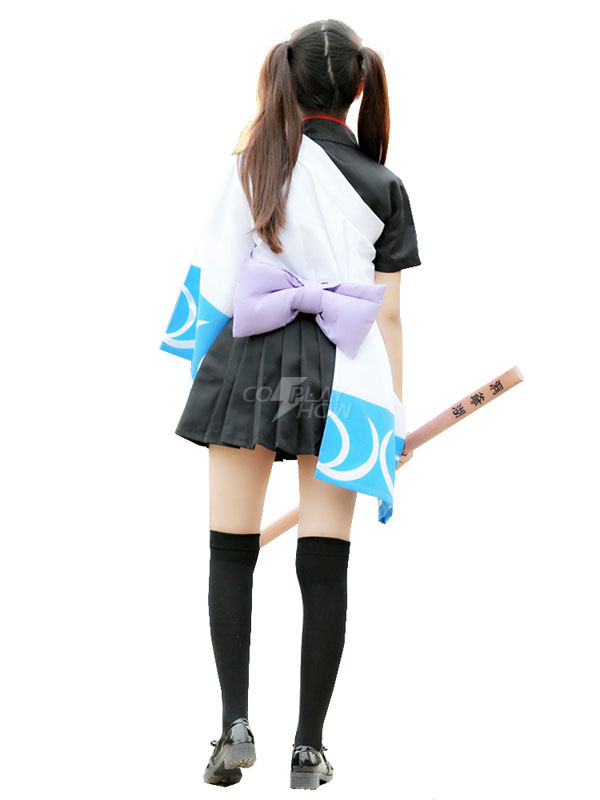 5c7c63d80 ... Gintama Silver Soul Sakata Gintoki Girl Version Kimono Cosplay Costume