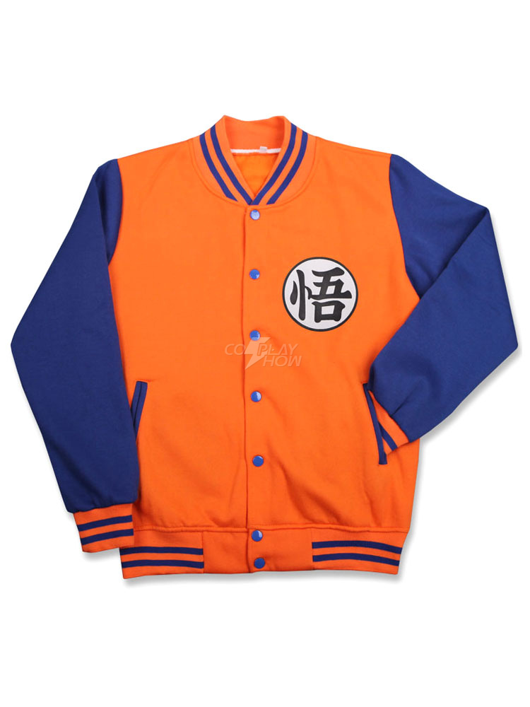 VARSITY DRAGONBALL Z GOKU JACKET COSPLAY NEW