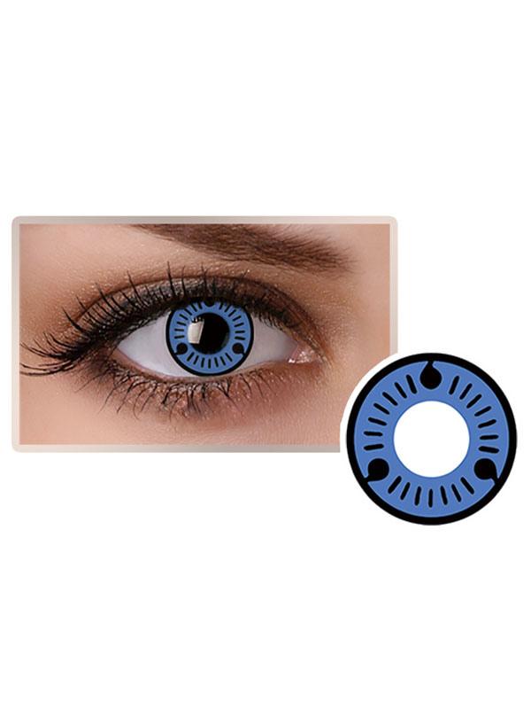 Naruto Uchiha Sasuke Sharingan Halloween Blue Cosplay Contact Lenses