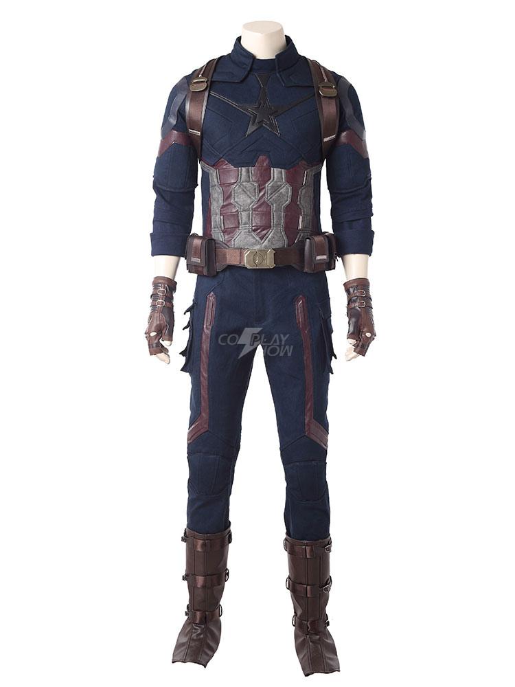 Avengers Infinity War Captain America Costume Steve Rogers Halloween Costume
