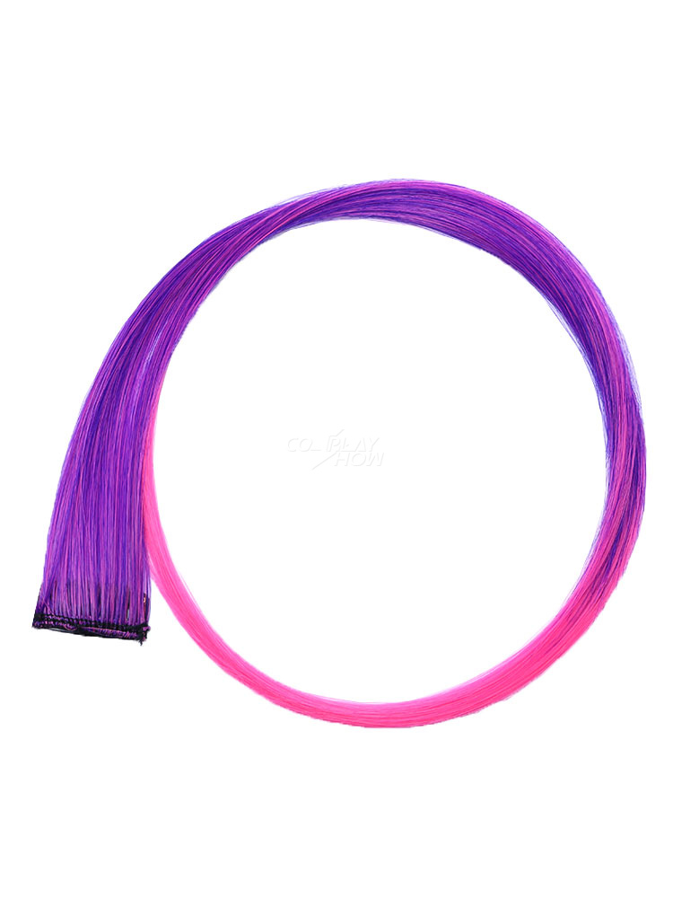 e523d1aca ... Color Hair Piece Hair Extension Strip Wig Piece Halloween Party Cosplay  Wig