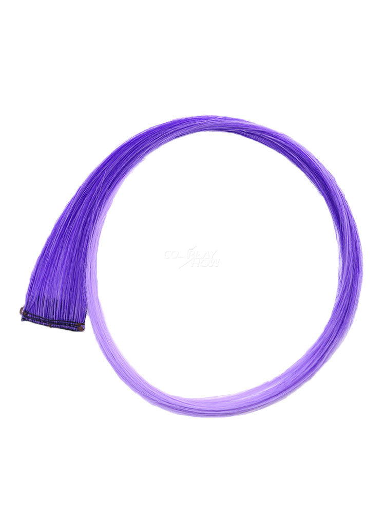 c39c9c0f9 Color Hair Piece Hair Extension Strip Wig Piece Halloween Party Cosplay Wig  - cosplayshow.com