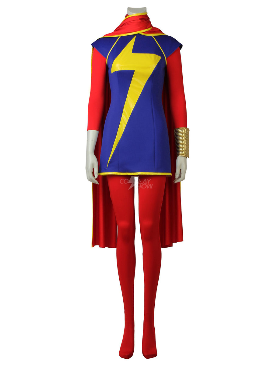 Marvel Cosplay Costume Kamala Khan Costume Outfit cosplay shoes New Ms