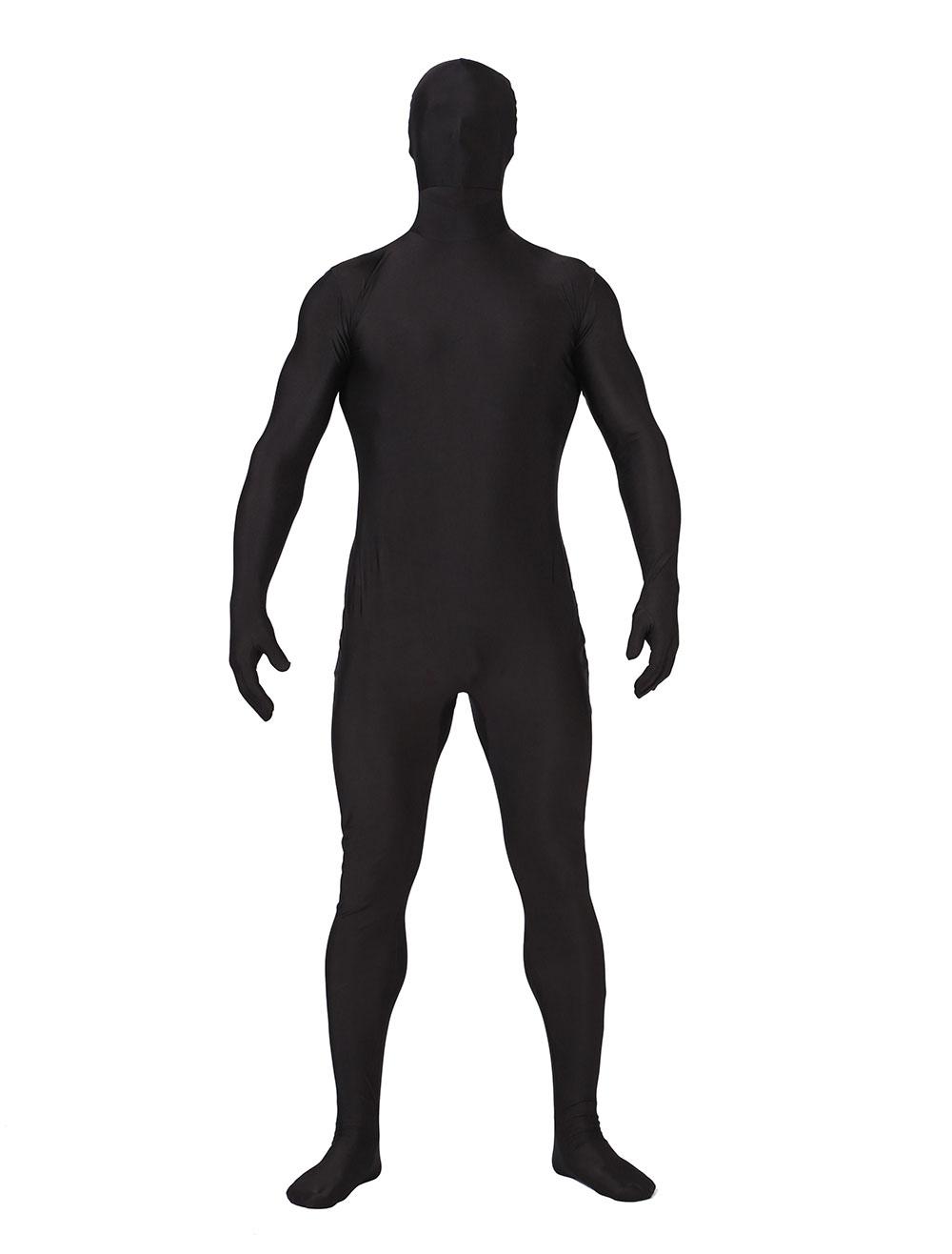 Women Black Full Zentai Suit Bodysuits Halloween Cosplay Costumes Lycra Unitard