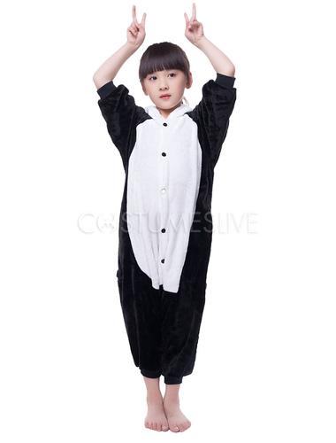 31513b8e4ce6 ... Kigurumi Pajama Panda Onesie For Kids Black White Synthetic Jumpsuit  Christmas Mascot Costume