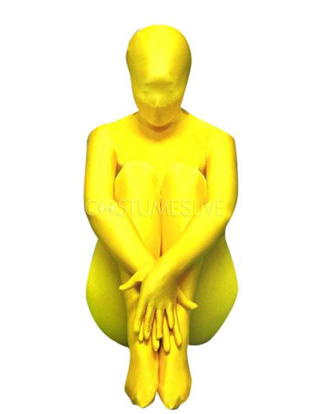 054964a8ac Halloween Yellow Zentai Suit Lycra Spandex Full Bodysuit Morphsuits -  Costumeslive.com by Milanoo