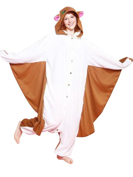 sc 1 st  CostumesLive & Kigurumi Pajamas Flying Squirrel Onesie For Adult Animal Costume ...