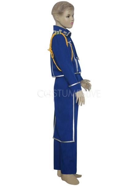 ... Blue Silver Gray Uniform Cloth FullMetal Alchemist Roy Mustang Military Kids Cosplay Costume ...  sc 1 st  CostumesLive & Blue Silver Gray Uniform Cloth FullMetal Alchemist Roy Mustang ...