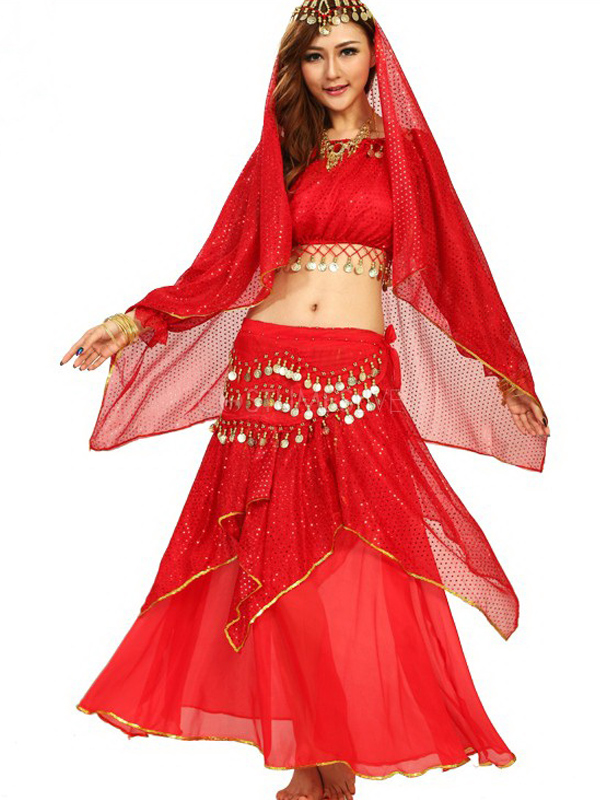 mysterious long sleeves belly dance outfits for women costumeslive