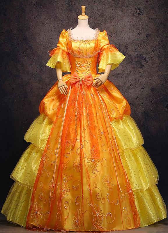 Noble Robe Épaules Brodée Royale Dénudées nPOk0w
