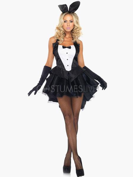 black polyester alluring bunny costume hammock stylish cosplay for halloween