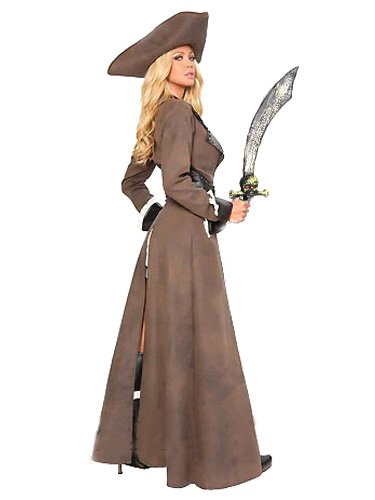 ... Halloween Brown Pirate Womenu0027s Costume Pirates Of The Caribbean Costume  sc 1 st  CostumesLive & Halloween Brown Pirate Womenu0027s Costume Pirates Of The Caribbean ...