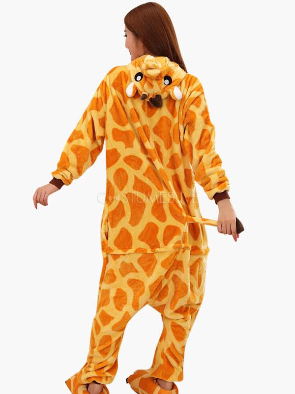 ... Kigurumi Pajamas Giraffe Onesie For Adult Flannel Animal Couple Costume ...  sc 1 st  CostumesLive & Kigurumi Pajamas Giraffe Onesie For Adult Flannel Animal Couple ...