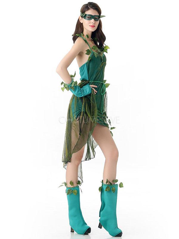 Vestido Verde De La Mujer Cosplay Halloween Disfraces Hadas