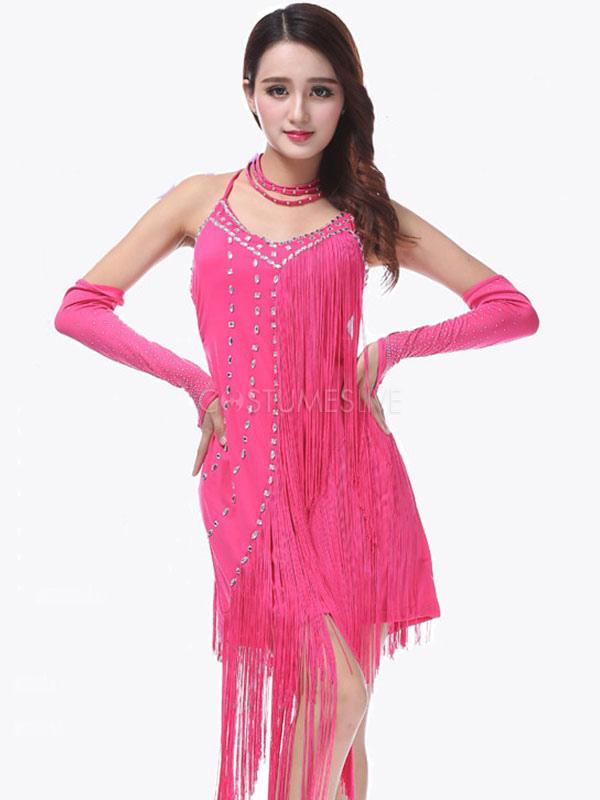 14e5a0fe87c7 ... Costumi da ballo latino americano per adulti lycra spandex  interpretazione abito monocolore