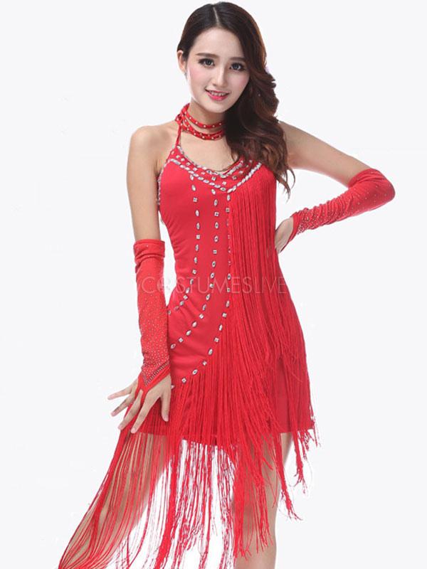 5f0fc937157a ... Costumi da ballo latino americano per adulti lycra spandex  interpretazione abito monocolore ...