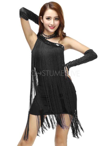 6ae1fd495d04 ... Costumi da ballo latino americano interpretazione per adulti monocolore  ballerino Latino abito lycra spandex