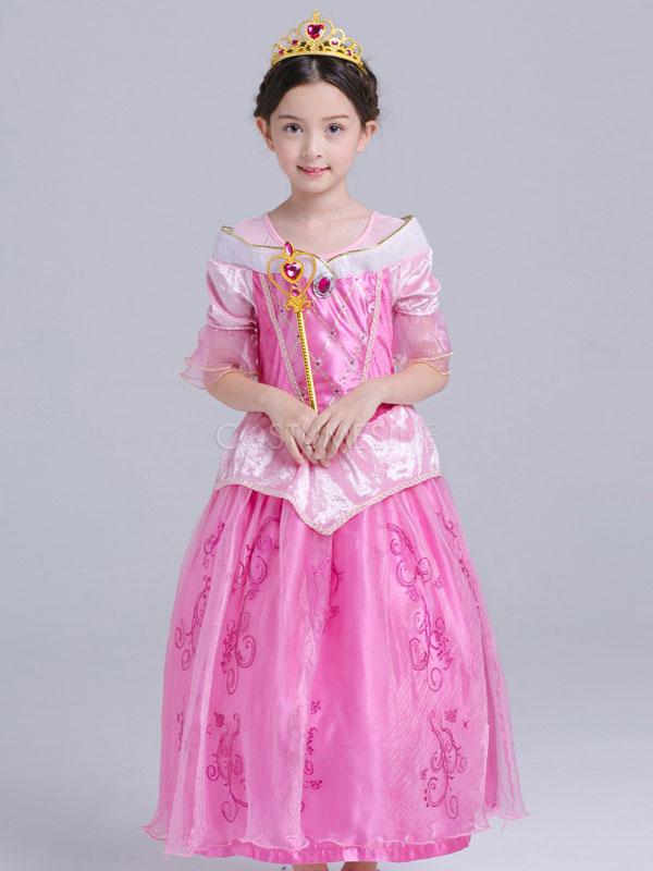 Traje De Princesa Aurora Halloween Para Niños Cosplay Bella Durmiente Vestidos Para Niñas De Disney