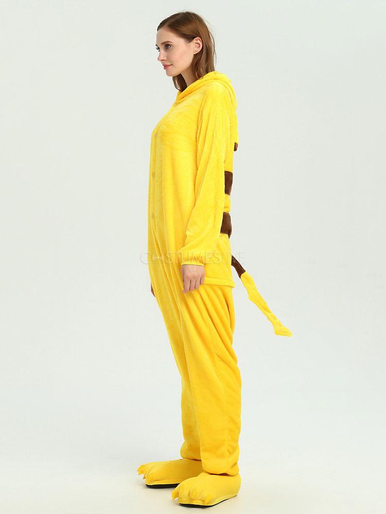 Kigurumi Pajama Pikachu 2020 Pokemon Combinaison Jaune En Flanelle ...